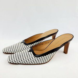 Sesto Meucci Size 6 1/2  Black/White - Heels/Mules